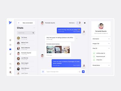 Chat App blue ios figma desktop app design conversation app flat interface web design clean ux design ui design ux ui design chat