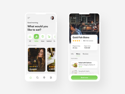 Find Restaurants mobile design mobile photos restaurant figma flat interface web design clean ux design ui design ux ui design android ios app design app
