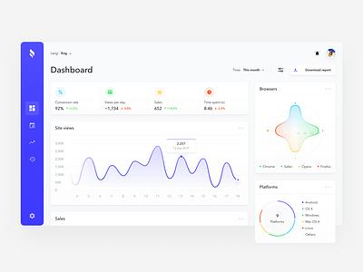 Analytics Dashboard statistics stats design chart ios analytics e-commerce flat figma interface web design app design app dashboard ux design ui design ux ui
