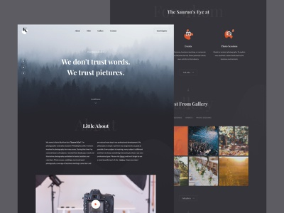 Photographer's Site branding template theme dark ui photos minimal figma web design landing page ux design ui design design ux ui photographer dark photo