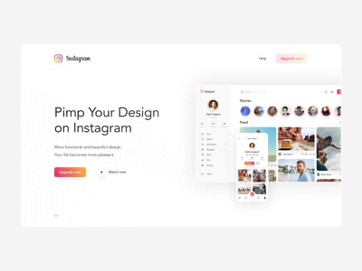 Instagram Redesign Concept - Summary upgrade concept redesign instagram minimal clean photos mobile ios app design figma app interface web design ux design ui design ux design ui