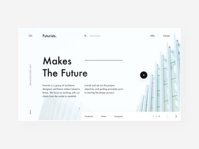 Futurists - Architecture Studio photos design figma website minimal landing page interface ux design ui desig ux ui web design art building architecture