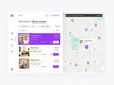 Real Estate App app design ios mobile desktop user experience e-commerce map search real estate designer figma app clean interface web design ui design ux design ux design ui