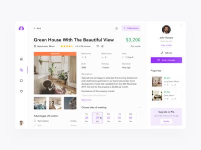 Real Estate App Property e-commerce designer desktop real estate search mobile android ios figma app clean interface web design ui design ux design ux design ui