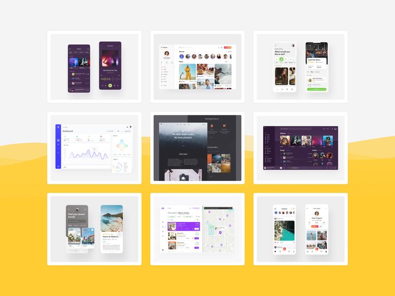 Best of 2019 web design ux design ui design ecommerce ios minimal shots collection template theme photos designer design landingpage web appdesign app interface ux ui