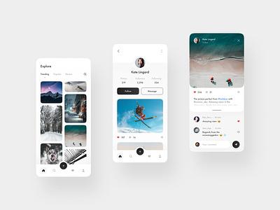 Photo App web design designer interface design minimal ux ui ux design ui design app design app photos android ios mobile mobile design
