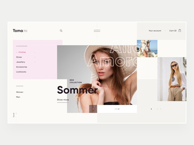 Fashion Store clean website minimal landing page interface photos e-commerce fashion web design ui design ux design ui ux design