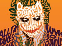 The Joker - Typography Illustration