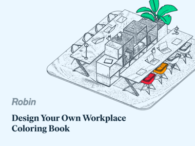 Robin Coloring Book office coloring book workplace robin design