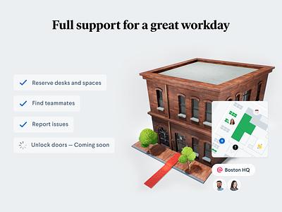 Office pass — Coming soon ui map render 3d pass office robin branding design