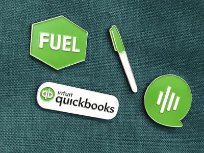 QuickBooks Enamel Pins
