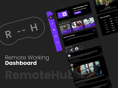 A Hub for Remote Workers adobexd ux remote work dashboard xddailychallenge design