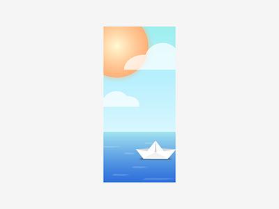 Sun and Sails apple ux ui design iphone wallpaper iphone x wallpaper iphone vector clouds sunny sun sailing