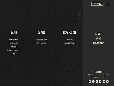 Navigation typography web animation website design