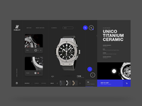 Hublot website design