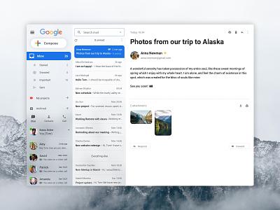 Gmail Redesign web design navigation mail clean messages inbox ux design redesign design google mailbox gmail website ui design ui ux