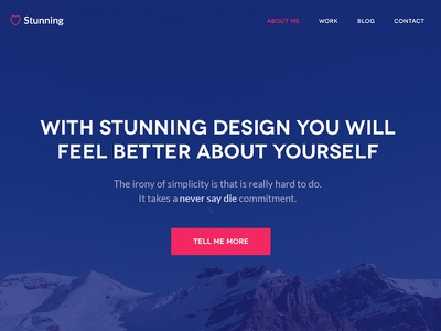 Stunning psd design mountain ux ui clean typography theme interface minimal user istanbul