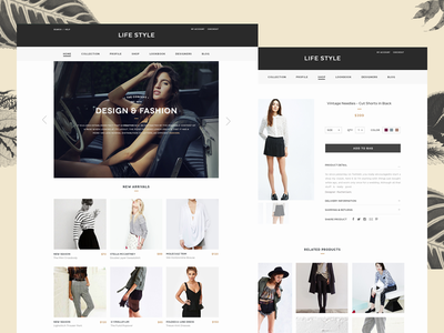 Life Style Concept magazine interface ui shop e-commerce fashion concept typography homepage clean ecommerce web