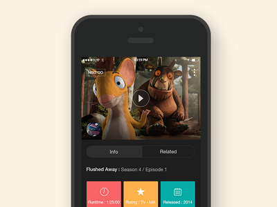 HBO Concept App app concept hbo detail video movie watching ios apple dark ui ux