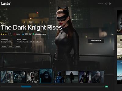 Tivibu Concept app news tv ui ux design movie watch clean video layout dark