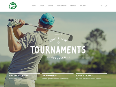 Carya Golf landingpage scored typography sport web golf parallax clean ui ux modern simple
