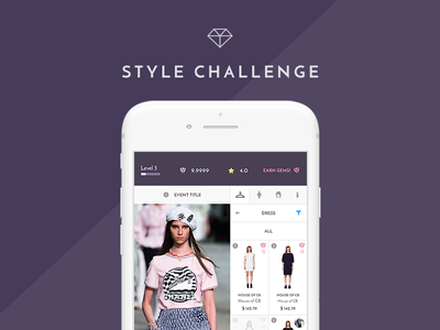 Style Challenge Game App layout simple ios gameapp ux ui