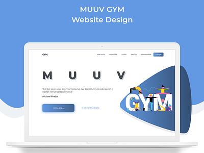 MUUV GYM Website Design landi̇ng page soltancode desi̇gn websi̇te ui̇ ux ux ui fi̇tness gym muuv