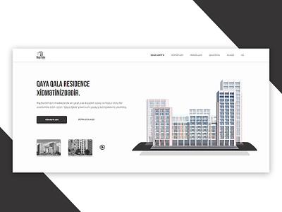 Qaya Qala Residence Website Design soltan abilgasimzada soltancode residence agency qaya qala webdesign ui ux adobexd