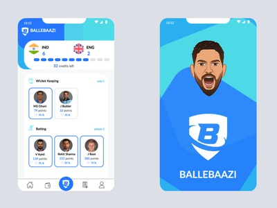 Fantasy Sports App betting app fantasy cricket fantasy sports mobile app ux ui