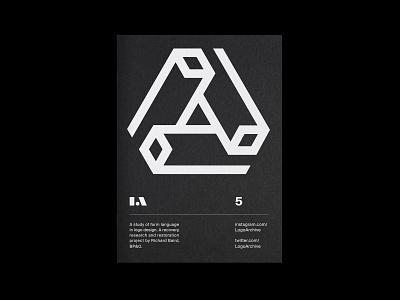 LogoArchive Issue 5 symbol logomark minimalist colorplan white ink zine print modernist design branding logos logo