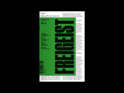 Freigeist  Issue 2 layout typography magazine zine print editorial design