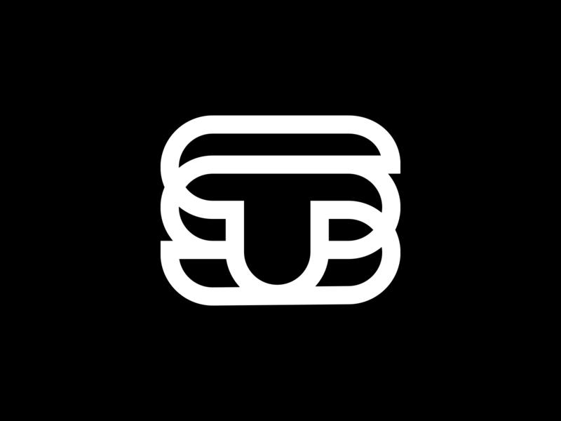 ST / TS Monogram mongram logomark monograms marque identity minimalist modernist design branding logos logo