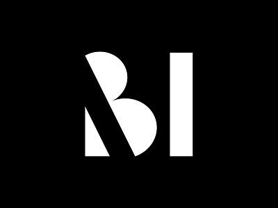 MB Monogram symbol monogram logomark monograms minimalist modernist design branding logos logo