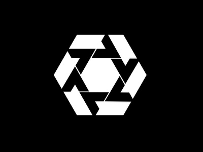 Exponential Arrows / Perpetual Motion marque symbol logomark identity minimalist modernist design branding logos logo