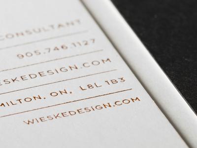 Wieske Design Business Card Detail business cards business card print foil duplex branding