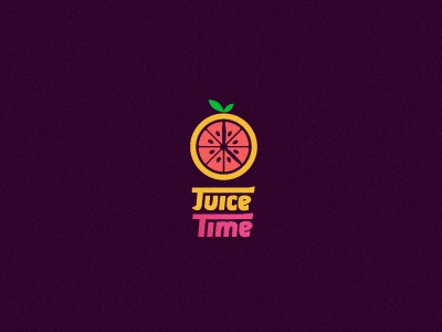 Juice Time Juice Bar logo juice bar time clock fruit juicy