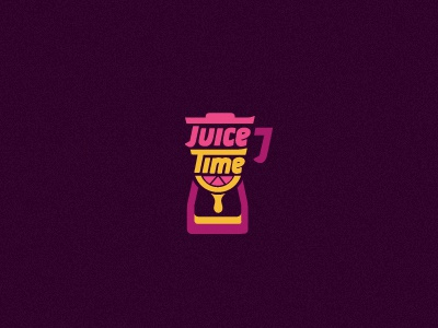 Juice Time logo branding identity juice fruit bar time hour glass blender