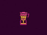 Juice Time logo branding identity juice fruit bar time hour glass blender