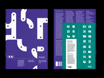 LogoArchive Extra Issue: pLAy print zine identity minimalist modernist design branding logos logo
