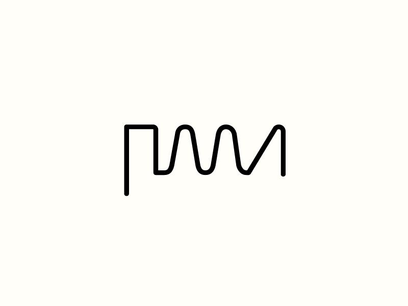 PMA Waveforms waveforms music logo monogram monograms logos