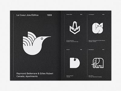 LogoArchive #1 colorplan white ink modernism logo design logos magazine zine print branding design logo