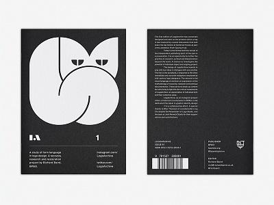 LogoArchive #1 brochure pamphlet magazine zine print white ink colorplan illustration cat branding design logo