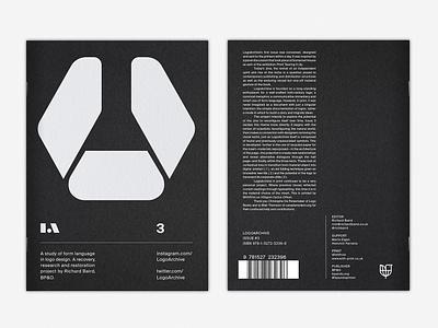 LogoArchive Issue 3 Preview design logo colorplan white ink marque branding science zine print magazine symbols logos