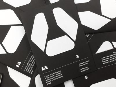 LogoArchive Issue 3 Launch design magazine black paper modernist minimal modern mid-century colorplan white ink zine print symbol branding logo