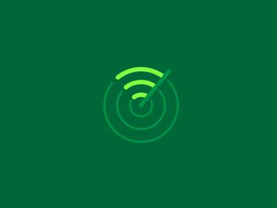 This + That = WiFind logos wi-fi finder wi-fi finder hotspot logo branding identity wifi radar location logomark marque geometric