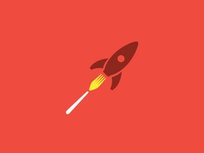 Fork and rocket