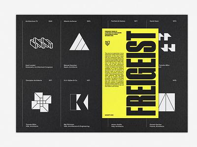LogoArchive Issue 4 & Freigeist Issue 1 white ink symbol print mid century logos logo design logoarchive logo graphic design colorplan branding booklet