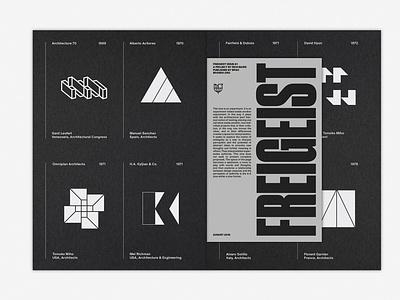 LogoArchive Issue 4 & Freigeist Issue 1 zine logomark print marque identity modernist design branding logos logo