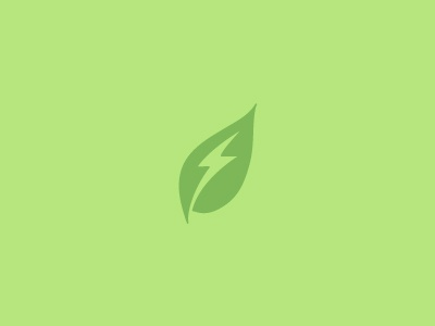 Clean Energy logos sustainability lightening leaf energy environment sustainable green logo identity clean logomark marque