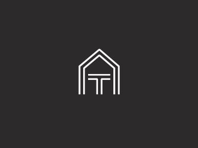 AT Monogram monograms logos logo identity monogram typography at interior design logomark marque interior design structure geometric